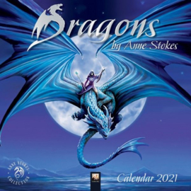 Anne Stokes kalender 2021 - Dragons