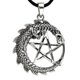Hanger - Dragon Pentagram - 925 silver