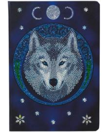 Crystal Art Notebook - Lunar Wolf - Anne Stokes