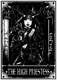 Mini poster - Deadly Tarot The High Priestess