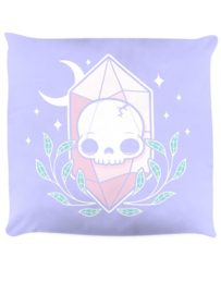 Sierkussen - Pastel Goth Skull Crystal