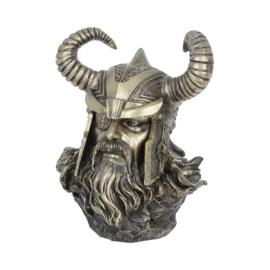 Beeld Bronze - Odin Bust -  21,5cm