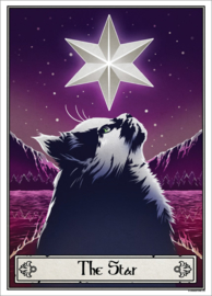 Mini poster - Deadly Tarot Felis - The Star