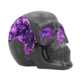 Schedel - Geode purple - 17cm