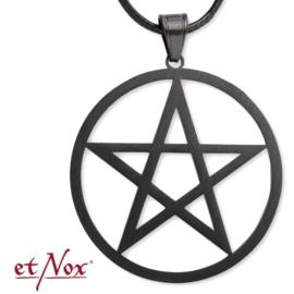 etNox - pendant Plain Pentagram - Stainless steel
