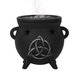 Incense cone burner - Triquetra Cauldron - Black Magic