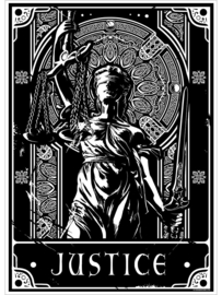 Mini poster - Deadly Tarot - Justice