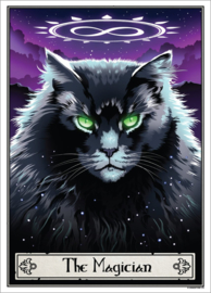 Mini poster - Deadly Tarot Felis - The Magician