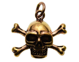 Skull And Bones - hanger - Brons