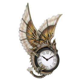 Steampunk Wandklok - Clockwork Dragon - Anne Stokes