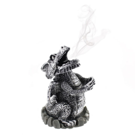 Silver Dragon - Incense cone houder