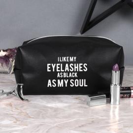 As black as my soul - Make-up tasje