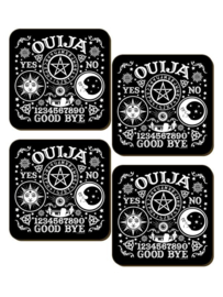 Set/4 onderzetters - Ouija Board