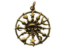 Sun Moon Stars - hanger - Brons