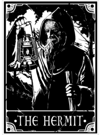 Mini poster - Deadly Tarot - The Hermit