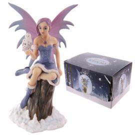 Beeld - Snow Fairy with Owl - Natasha Faulkner