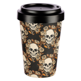 Travel mug - Skulls & Roses