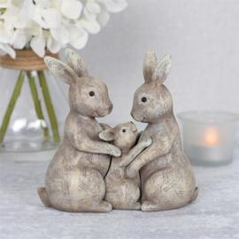 Fluffle Bunny Family ornament