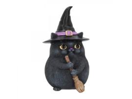 Beeldje - Lucky Black Cat - 12cm