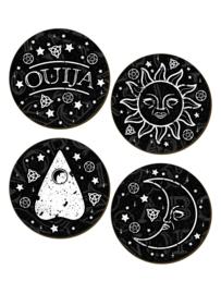 Set/4 onderzetters - Ouija