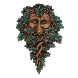 Leafy Green Man 19cm - wanddecoratie