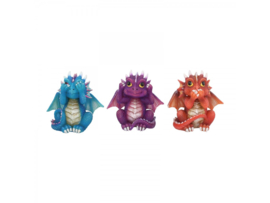 Three Wise Dragonlings 8,5cm