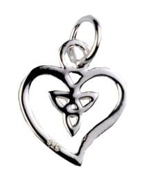 Celtic Heart hanger - Sterling Zilver