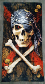 Badlaken Anne Stokes - Pirate Skull