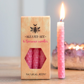 Blessed Bee - beeswax spell candles - Roze