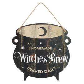 Tekstbord - Witches Brew Cauldron - MDF