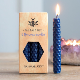 Blessed Bee - beeswax spell candles - Blauw