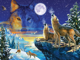 Puzzel - Howling Wolves - Adrian Chesterman