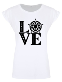 Ladies T-shirt - Pentagram Love