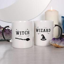 Witch & Wizard - set van 2 mokken