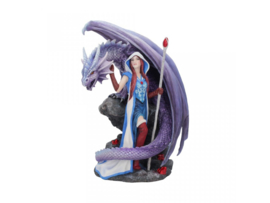 Anne Stokes beeld - Dragon Mage - 24cm