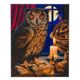 Crystal Art Kit - The Astrologer Owl - Lisa Parker