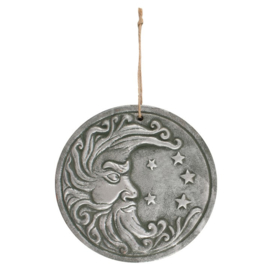 Wall Plaque - Moon and Stars -  Terracotta