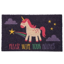 Please Wipe Your Hooves - Unicorn deurmat