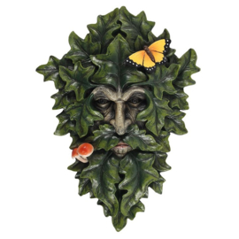 Leafy Green Man 29cm - wanddecoratie