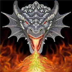 Crystal Card Kit - Dragon Fire Head - Anne Stokes