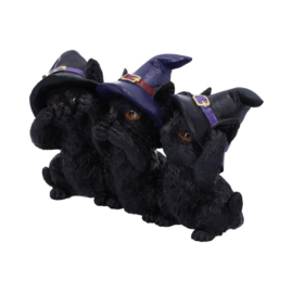 Three Wise Black Cats - 11,5cm