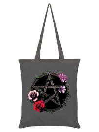 Tote bag - Requiem Collective Floral Pentagram