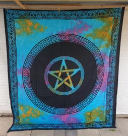 Bedsprei / wandkleed - Pentagram