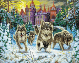 Diamond painting - Running Wolves - Craft Buddy ®