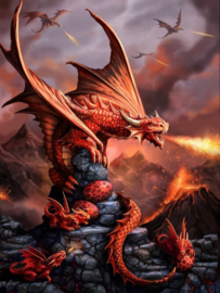 Anne Stokes - Fire Dragon - 30 x 40cm 3Dprint