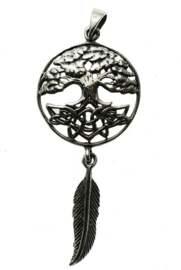 Tree of Life Feather - Sterling Zilver - Lisa Parker