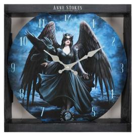 Wandklok - Raven - Anne Stokes