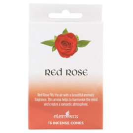 Elements - Red Rose -  incense cones