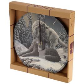 Wandklok - Snow Kisses - Lisa Parker