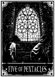 Mini poster - Deadly Tarot Five Of Pentacles